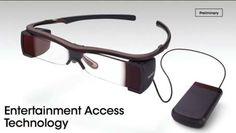 Legendas de filmes no óculos da Sony