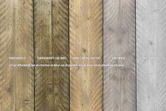 Steigerhouten tafel met dikke planken Millau