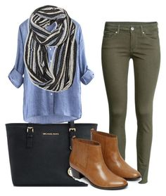 """young teacher outfit #5"" by womack470 on Polyvore featuring Michael Kors, H&M, Avenue and Warehouse"
