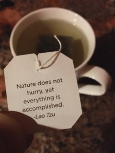 [Image] My tea had some solid motivation for me today.