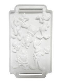 Looney Tunes toons plastic jello Gelatin Candy ICE TRAY Cube Mold  Daffy Duck Sylvester cat Tweety Bird Porky Pig Taz Bugs Bunny * Read more reviews of the product by visiting the link on the image.