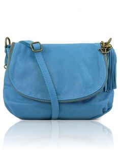 TL BAG TL141223 Soft leather shoulder bag with tassel detail