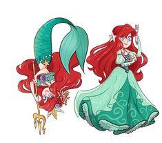 Mujer pescado by Isosceless on DeviantArt Disney Princess Drawings, Disney Princess Art, Disney Fan Art, Disney Drawings, Arte Disney, Disney Magic, Disney And More, Disney Love, Disney And Dreamworks