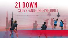 21 down serve-and-receive drill Volleyball Training, Volleyball Serving Drills, Volleyball Serve, Volleyball Skills, Volleyball Practice, Volleyball Games, Volleyball Workouts, Coaching Volleyball, Beach Volleyball
