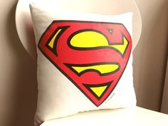 Superman Throw Pillow by TheSaraInitiative on Etsy, $20.00