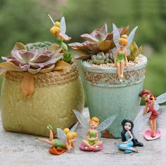Buy 6 pcs/ Set Miniature Flower Fairy Elf Garden Home Houses Decoration Mini Craft Micro Landscaping Decor DIY Accessories at Wish - Shopping Made Fun Flower Ornaments, Garden Ornaments, Flying Flowers, Mini Craft, Craft Accessories, Miniature Figurines, Miniature Fairy Gardens, Aliexpress, Landscaping
