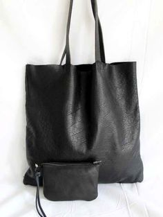 Gorgeous Supple Black Leather Tote Bag Market Bag by sord 9c1d647b68856