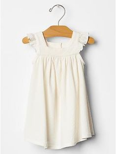 Organic pointelle flutter dress | Gap
