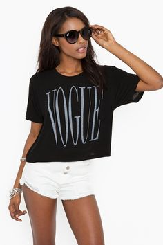 Vogue Tee  http://www.nastygal.com/whats-new/vogue-tee?utm_source=pinterest_medium=smm_campaign=pinterest_nastygal