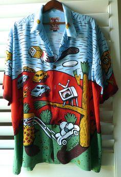 Vintage MAMBO Loud Shirt Aussie Backyard Size XXL