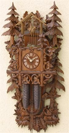Romach und Haas Birdcage Cuckoo Clock with 8 Day Movement. Made in Germany.  Official Black Forest clock licensed by the VDS.