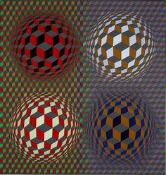 Victor Vasarely, Stri-Öt, 1979 © Museum of Fine Arts Budapest - Vasarely Museum, EMMA, Finland 2015