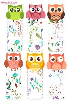 33 Trendy Diy Paper Bookmarks Coloring Pages Felt Crafts, Diy And Crafts, Arts And Crafts, Diy Paper, Paper Crafts, Paper Bookmarks, Bookmark Craft, Owl Patterns, Happy Planner