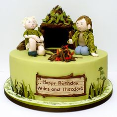 CUTE cake for a boy whose into camping!