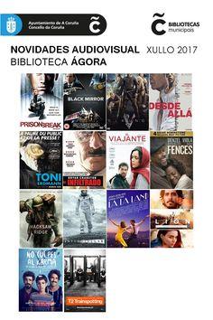 Últimas incorporacións audiovisuais da Biblioteca Municipal Ágora. Dispoñibles para levar en préstamo dende xa!!