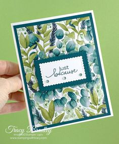 Quick and easy card featuring Stampin' Up! Forever Greenery Designer Series Paper, Lovely You stamp set and Stitched So Sweetly Dies.  Created by Tracy Bradley, Independent Stampin' Up! Demonstrator  www.stampingwithtracy.com Wink Of Stella, Stampin Up Catalog, Stamping Up Cards, Card Sketches, Flower Cards, Paper Flowers, Paper Cards, I Card, Tutorial