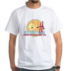 Breakfast T Shirt  #breakfast #food #foodie #cute #funny #humor #bacon #eggs #characters #drawings #illustrations #shirts #men