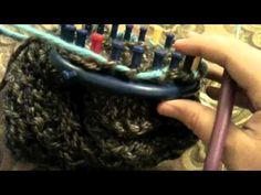 PARTE 2 Transfer 48 peg Disminución Corona a 24 clavija redonda Loom Knitter Knifty - YouTube