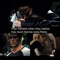 That moment when Finnick and President Snow realize how much Katniss loves Peeta.