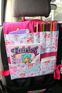 Car seat organizer- awesome idea. Wish there was a pattern :(