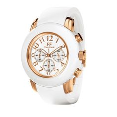 This white statement Folli Folie watch is sporty and chic. Jewelry Box, Jewellery, Rose Gold Watches, Telling Time, Fine Watches, Boutique, Rose Gold Plates, Michael Kors Watch, Bag Accessories