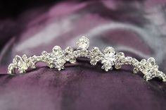 Princess Bridal Wedding Tiara Comb with White/Clear Crystal C18796 * Read more at the image link.