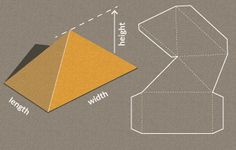 Completely custom sized template for a Pyramid. this is a great site for free template maker generator for different gift box templates. http://www.templatemaker.nl/