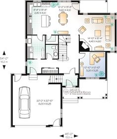 Trendy Home Office Traditional Car Garage Ideas House Plans And More, Family House Plans, New House Plans, European Plan, European House, Vestibule, Garage Double, Double Desk, Courtyard Entry