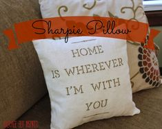 A Sharpie + a Pillow = Lovely Housewarming Gift - Average But Inspired