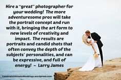 """New article, """"The 9 Myths of Wedding Photography"""" on my Wedding Blog (designed not to sell, but to teach!). Something new about Weddings is posted every 4th day! More than 395 FREE Articles! Tell your friends by clicking """"SHARE."""" - http://celebrateintimateweddings.wordpress.com/2013/10/01/the-9-myths-of-wedding-photography/"""