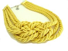 yellow knotted necklace