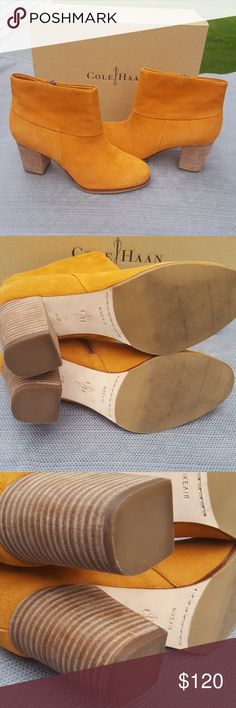 Cole Haan nike air Booties EUC size 8.5 With box. Worn twice. Excellant condition. Cole Haan Shoes Ankle Boots & Booties