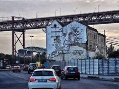 Street art Lx Factory Lisbonne, Portugal
