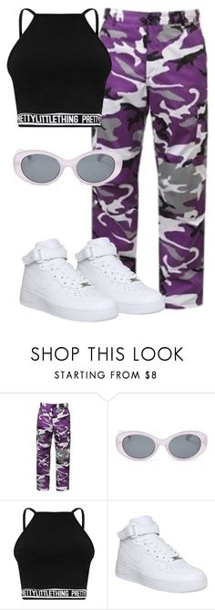 """Untitled #1069"" by thecomedian ❤ liked on Polyvore featuring Forever 21 and NIKE"
