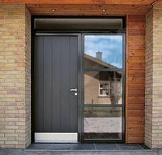 front door, here from velfac, stove enamelled metal?