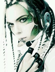 cyberpunk - love the facepaint and headset