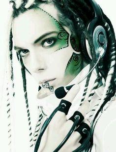 cyberpunk - love the facepaint and headset