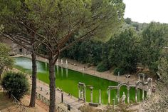 Hadrian's Villa Official Site | An aerial view of the canopus, or canal.