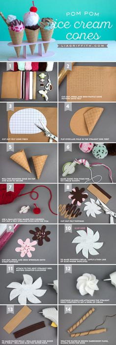 Celebrate National Ice Cream Day with this sweet treat from a project! Fun and sim… - Diyprojectgardens.club - Celebrate National Ice Cream Day with this sweet treat from a project! Fun and sim … - Kids Crafts, Felt Crafts, Diy And Crafts, Craft Projects, Paper Crafts, Baby Crafts, Craft Tutorials, Ice Cream Crafts, Felt Food Patterns