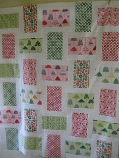 Rainy Days Quilt - Quilting In The Rain.  Really like this pattern.  It's similar to a quilt made by Melissa Richie of We Shall Sew.