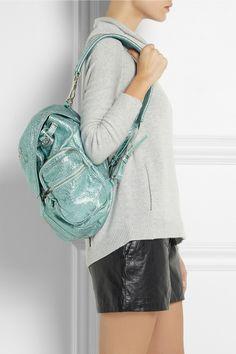 Alexander Wang | Marti metallic textured-leather backpack | NET-A-PORTER.COM