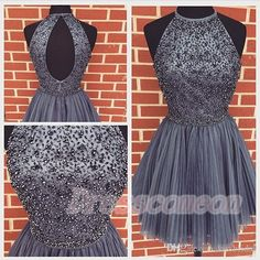 Top Selling Gray Homecoming Dresses,Beaded Charming Short Prom Dresses,Custom Made Graduation Dresses,Open Back Party Dresses  http://www.luulla.com/product/522242/top-selling-gray-homecoming-dresses-beaded-cheaming-short-prom-dresses-custom-made-graduation-dresse