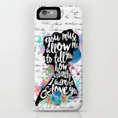 Mr. Darcy - Ardently Admire & Love You iPhone & iPod Case