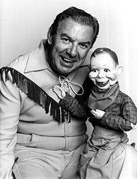 Buffalo Bob Smith and Howdy Doody.  His son, Chris, and I were lab partners in biology class.