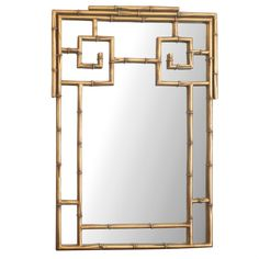 A fantastic vintage gilded bamboo Chinoiserie wall mirror. The combination of gold and bamboo is so classically elegant, Asian-inspired, and the perfect Hollywood Regency accent. This mirror would look great in any space.