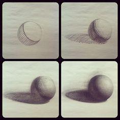 plasticiteit door de schaduw (licht en donker) lijkt de bol rond