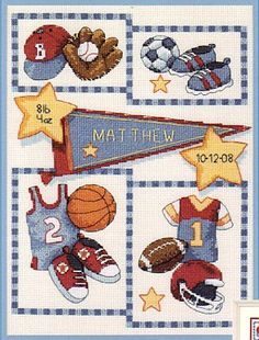Little Sports Birth Record - Cross Stitch Kit well here's a name that might work? lol