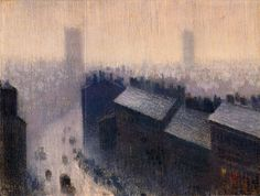 Rooftops Manchester, (early 1900s). Pierre Adolphe Valette (French 1876–1942)