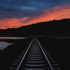 Train track in Bellingham Washington.