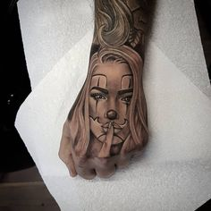 Chicano Art Tattoos, Gangster Tattoos, Dope Tattoos, Body Art Tattoos, Sleeve Tattoos, Chicanas Tattoo, Skull Girl Tattoo, Clown Tattoo, Sick Tattoo
